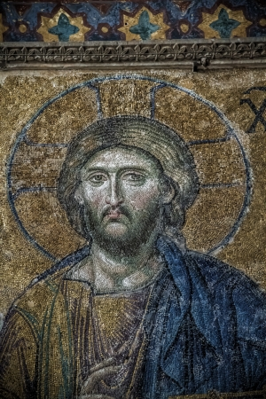 Restored religious mosaics of Hagia Sofia which was built as a church by Byzantins