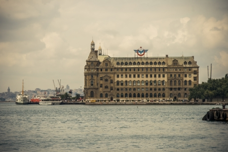 haydarpasa: Ferry is taking the passengers from the Haydarpasa train station at Kadikoy, Istanbul