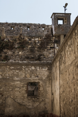 penitentiary: Walls of an abandoned historic prison in SinopTurkey which is open now for visitors Stock Photo