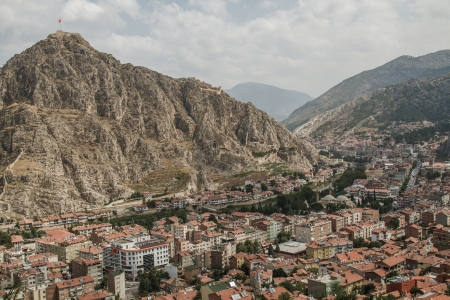 Panoramic view of  Amasya, Turkey which is an old city near Black Sea Editöryel