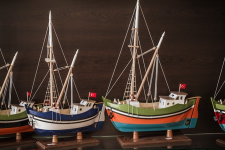 ships model at a gift shop in Turkey