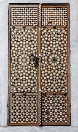 inlay: Harem door from mother of earl inlay at Topkapi Palace