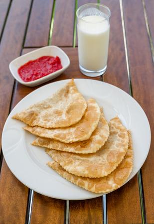 cig: Cig borek or Tatar pie, Turkish meat pie fried in oil