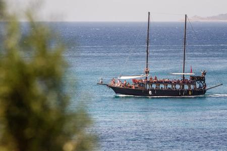 touristic: Touristic Sail Boats near the beach of Akyarlar, Bodrum, Aegean Turkey