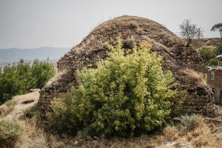 turkish bath: Exterior view of Turkish bath Hoca Hamami in Harput, Elazig, Turkey