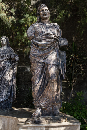 mugla: MUGLA , TURKEY - AUGUST 29, 2015: Statues next to Bodrum Museum of Underwater Archaeology in Mugla, Turkey Editorial