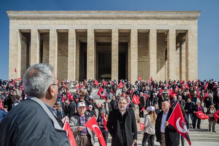 mustafa: ANKARA, TURKEY - MARCH 15, 2014: People in  Anitkabir, Mausoleum of Mustafa Kemal Ataturk, the founder of the Republic of Turkey