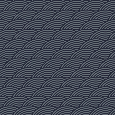repeating background: Seamless abstract modern concentric navy blue, gray circles texture, background pattern
