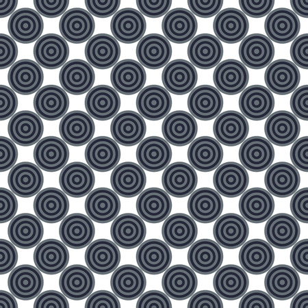 Seamless abstract modern concentric navy blue, gray circles texture, background pattern