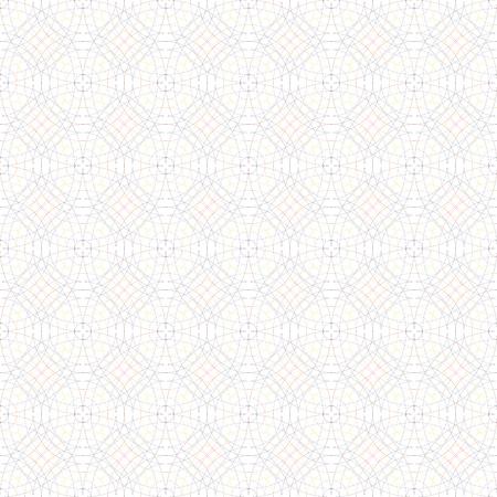 oscillation: Seamless light elegant circular pattern, mathematical ornament from crossed circles