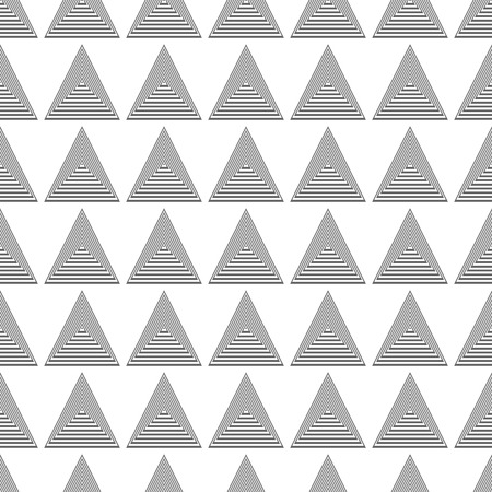 gray scale: Seamless black and white abstract modern pattern created from triangle intersections