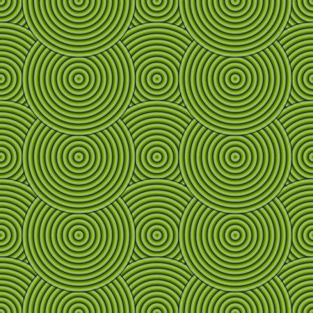 circulos concentricos: Verde sin fisuras abstracta moderna de los c�rculos conc�ntricos de la textura, del modelo del fondo