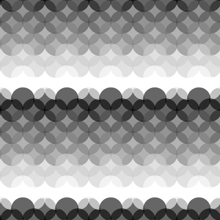 gray scale: Seamless Gray scale abstract modern pattern created from circle intersections Illustration
