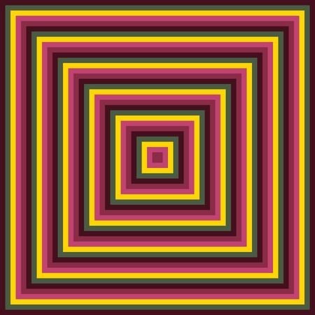 Colorful abstract concentric modern pattern created from squares
