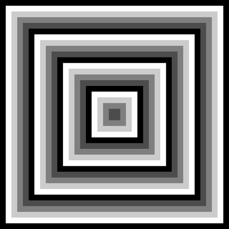 gray scale: Gray scale abstract concentric modern pattern created from squares