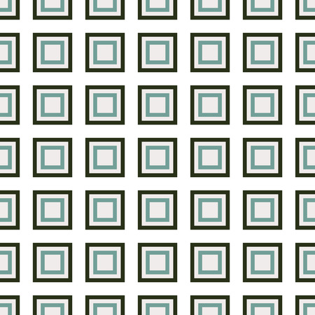 Seamless green abstract modern pattern created from square intersections