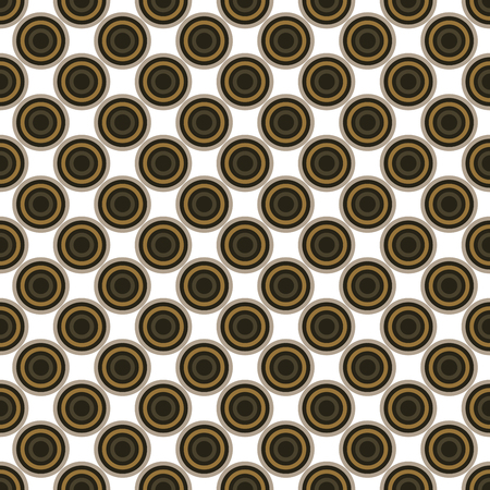 circulos concentricos: Seamless brown abstract modern concentric circles texture, background pattern Vectores