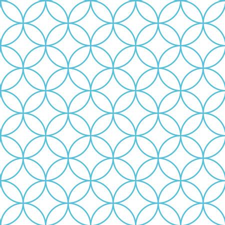 blue circles: Seamless abstract intersecting and repeating modern blue circles