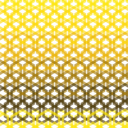 yelow: Seamless yellow geometric abstract pattern from hexagon wire intersections