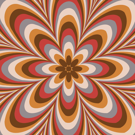 ellipses: Colorful abstract flower pattern created from circle and ellipses