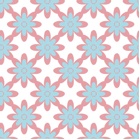 ellipse: Seamless colorful abstract flower pattern created from circle and ellipse intersections