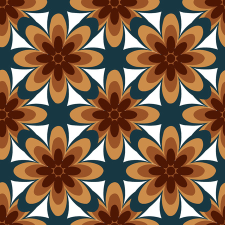 elipse: Seamless colorful abstract flower pattern created from circle and ellipse intersections