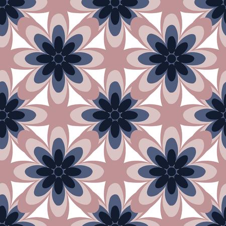 elipse: Resumen patrón de flores de colores sin fisuras creado a partir de círculo y la elipse intersecciones