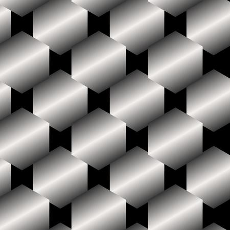 metallic: Seamless abstract metallic pattern background from hexagons Illustration