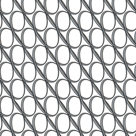 Abstract black and white seamless geometric background created from ellipse patterns