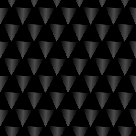 shiny black: Seamless shiny black abstract modern pattern created from triangles
