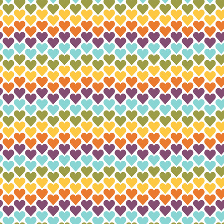 rhythm: Seamless colorful abstract pattern created from repetitive hearts