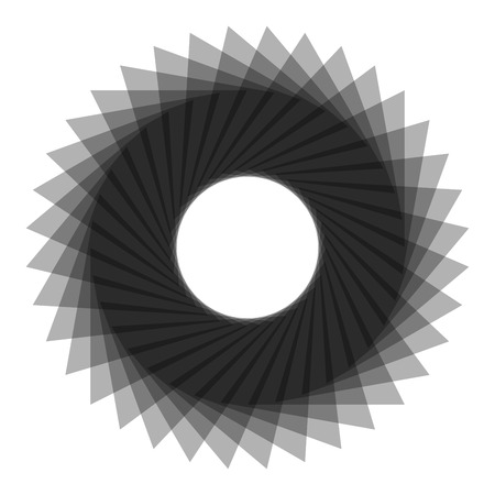 spirograph: Abstract spirograph concentric circle pattern from intersecting shapes on white background