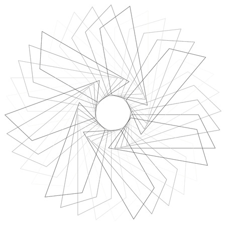 spirograph: Abstract spirograph concentric circle pattern from intersecting shapes