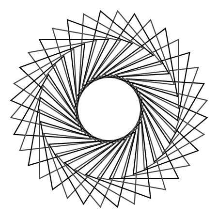 oscillation: Abstract spirograph concentric circle pattern from intersecting shapes