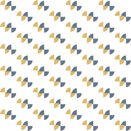 arcs: Seamless colorful abstract modern pattern like bow tie created from repetitive concentric arcs Illustration