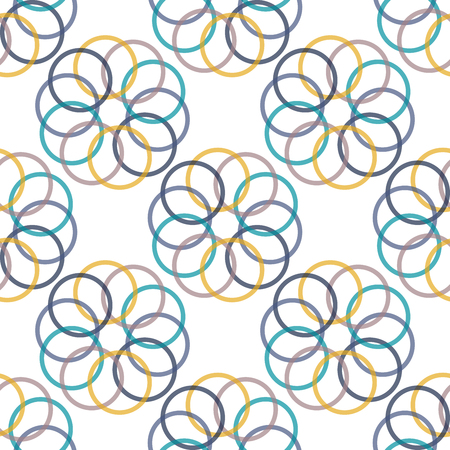 circulos concentricos: Seamless colorful abstract modern pattern created from repetitive concentric circles