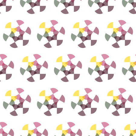 arcs: Seamless colorful abstract modern pattern created from repetitive concentric arcs Illustration