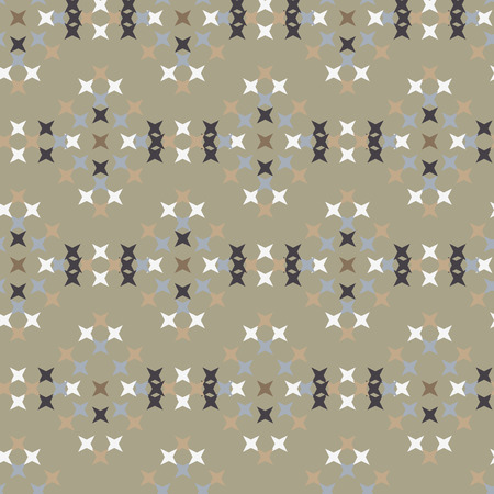 crossstitch: Seamless abstract cross-stitch  embroidery pattern on green background Vectores