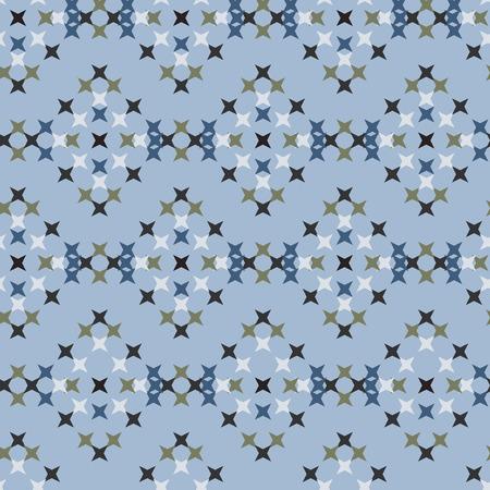 punto de cruz: patrón de punto de cruz bordado abstracto transparente sobre fondo azul Vectores