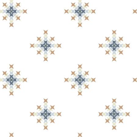 punto de cruz: patrón de punto de cruz bordado abstracto sin fisuras en el fondo blanco