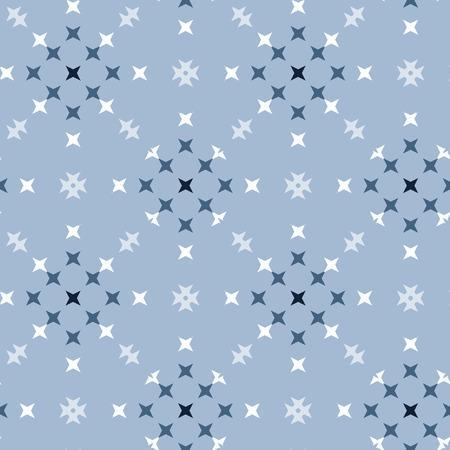punto de cruz: patr�n de punto de cruz bordado abstracto transparente sobre fondo azul Vectores