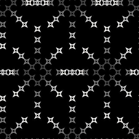 punto de cruz: Seamless abstract cross-stitch embroidery pattern on black background Vectores