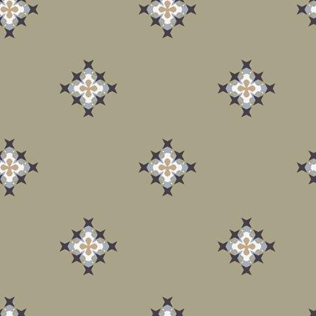 punto de cruz: patrón de punto de cruz bordado abstracto sin fisuras en el fondo verde
