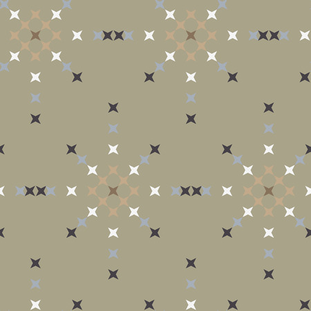punto de cruz: Seamless abstract cross-stitch  embroidery pattern on green background Vectores