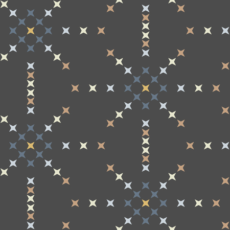 crossstitch: Seamless abstract cross-stitch embroidery pattern on gray background