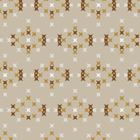 punto de cruz: Seamless abstract cross-stitch embroidery pattern on cream background