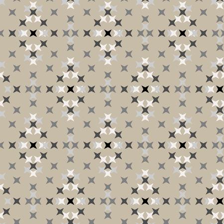 punto de cruz: patr�n de bordado de punto de cruz abstracta sin fisuras en el fondo de crema Vectores