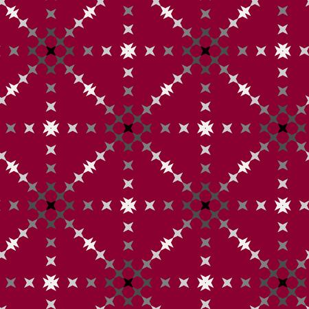 punto de cruz: patrón de punto de cruz bordado abstracto transparente sobre fondo rojo Vectores