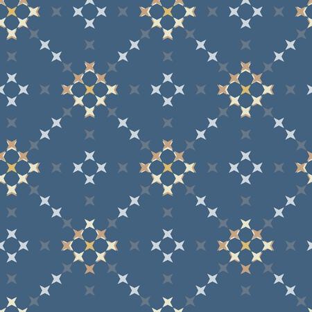 punto de cruz: patrón de punto de cruz bordado abstracto transparente sobre fondo azul oscuro