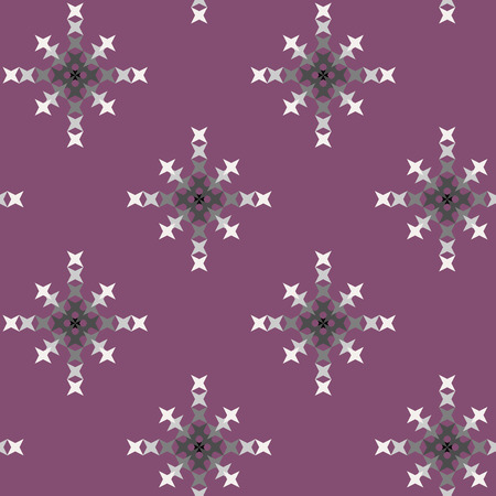 punto de cruz: patr�n de punto de cruz bordado abstracto transparente sobre fondo morado